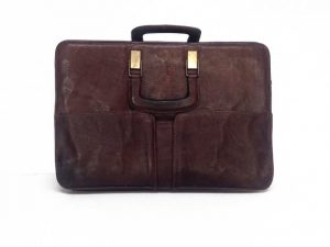 Brown Leather Briefcase 1978