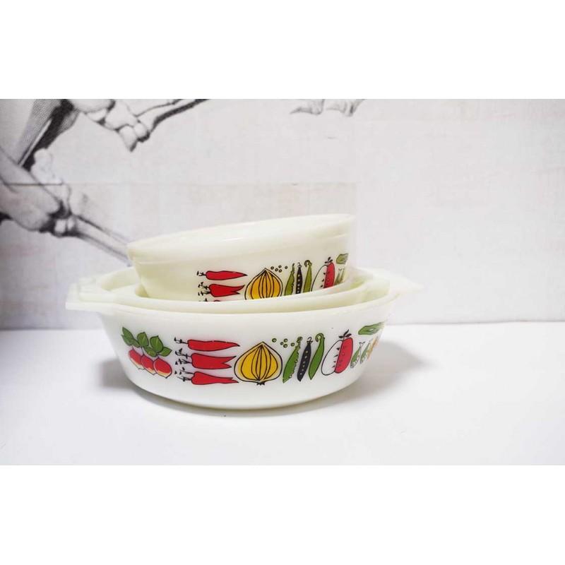 Retro Veggie Dish Set
